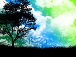Music is nature, silhouette by sammy3773