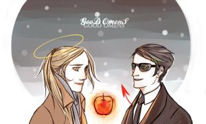 good omens fanart by 1st-leutenant
