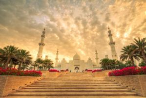 Grand Mosque in Abu Dhabi by LoveArtOnline