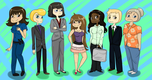 Psych Cast, Gender Bent!! by TelloSnap