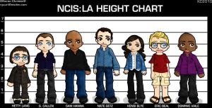 NCIS LA Height Chart by ryuuri