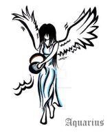 Angel aquarius tattoo design by Northwolf89