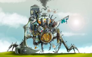 Steampunk giant by clv