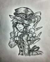 Oz Vessalius and the B-Rabbit from Pandora Hearts by hollyvalance