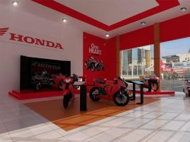Showroom Motor Honda by wisnuah