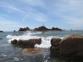 Lighthouse on Jersey by Duck-and-Cover