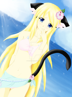 gift for chizuchiyoko *A catgirl in the summer* by TachiUchiha