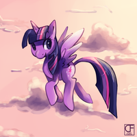 Alicorn Twilight by ChocoChaoFun