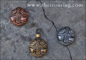 Dwarven pendants: other finishes by TheIronRing