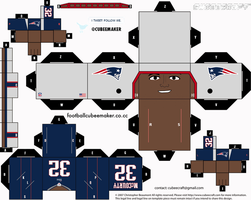 Devin McCourty Patriots Cubee by etchings13