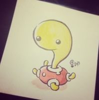 Shuckle Watercolor by Italiux