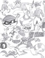 Sly Cooper Collage by kerriganlkam