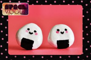 Onigiri earrings by Haszynka