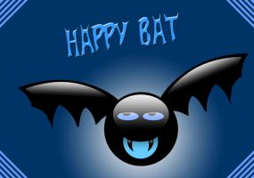 The Happy Bat by theShad0w