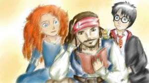 Reading with Jack Sparrow and Friends by yunnasukiga5