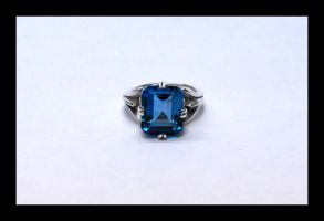 Blue topaz ring by manwithashadow