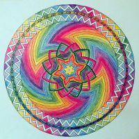 Psychedelic Mandala by Lou-in-Canada