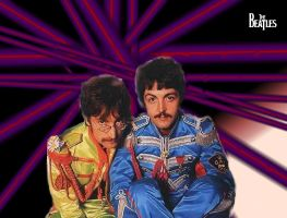 John Lennon and Paul McCartney by DatBifi