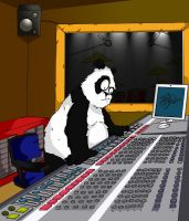 Panda at a Mixing Desk by LloydBridgemanInk
