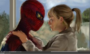 spiderman wip by kaji02