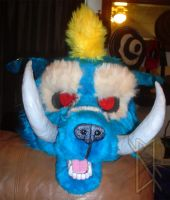 Troll Bear Head - Almost Finished by BurnsLikeIce