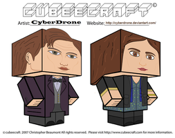 Cubeecraft - 11th Doctor and Clara by CyberDrone