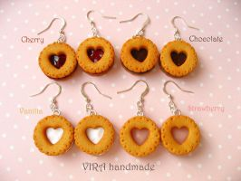 Cookie earrings by virahandmade