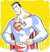Superman digisketch by hyperjack08