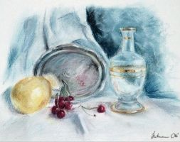 tray,fruits and glass by hartmano