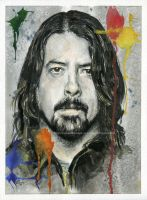 Dave Grohl - Portrait - Watercolor and Ink by NateMichaels