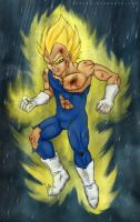 Super Saiyan Vegeta by saiyanhajime