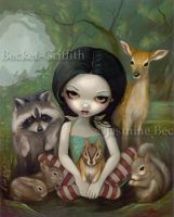 Snow White and Her Friends by jasminetoad