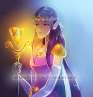 Legend Of Zelda: Princess Hilda by musicalscribble