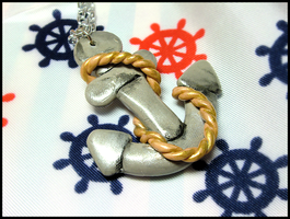 Anchor + Rope Necklace by GrandmaThunderpants