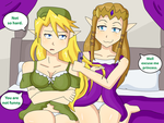 Link and Zelda (Part 10) by TheMaskofaFox