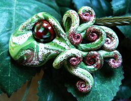 Glitter Christmas Octopus by BlackMagdalena