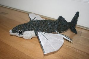 crocheted Japanese flying fish by Soggy-Wolfie