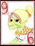 The Nostalgic Six of Hearts: Granny Smith by The1King