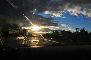 Driving through the Sunset by sumangal16