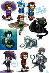WerecatDipper Art Compilation- Magic!Anon Edition by spookydoom