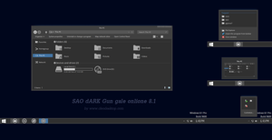 SAO dARK Theme Windows 8.1 by cu88