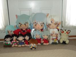 My Inuyasha Plush Collection by Itachislilgirl
