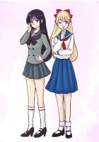 Minako and Rei by maybebaby83