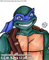 TMNT - :Leo Bust: by StephRatte