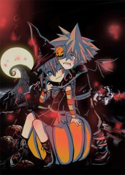 Halloweentown Sora and Kairi by Sho-chan9