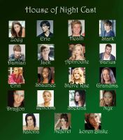 House of Night Cast by vampyrepryncess