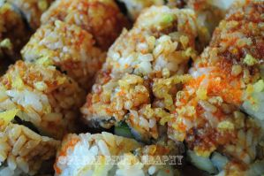 Crunchy Roll with Eel by Pi-ray
