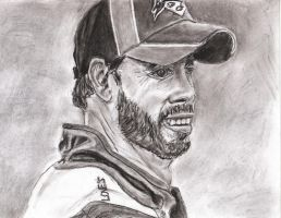 Jimmy Johnson in charcoal by ScullyNess