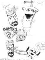 Aqua Teen Hunger Force crew by Andres256