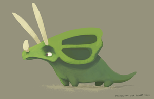 Triceratops by sketchinthoughts